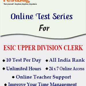 ESIC UPPER DIVISION CLERK