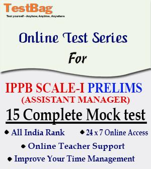 IPPB SCALE I AM PRELIMS MOCK TEST